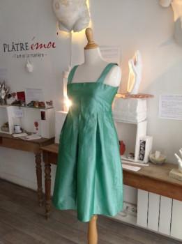 Robe Apolline taille 42/44 verte menthe à l'eau