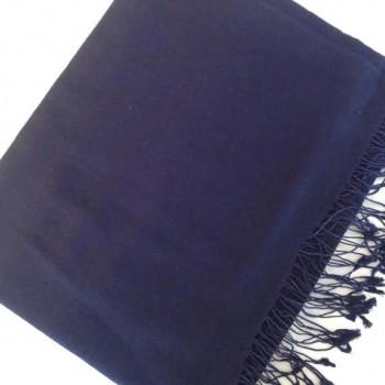 Pashmina cachemire et soie bleu marine
