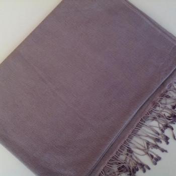 Pashmina cachemire et soie gris