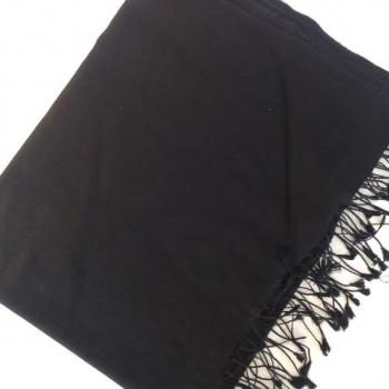 Pashmina cachemire et soie noir