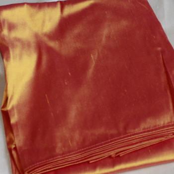 0024 Etole en soie sauvage orange reflets fuschias disponible immédiatement