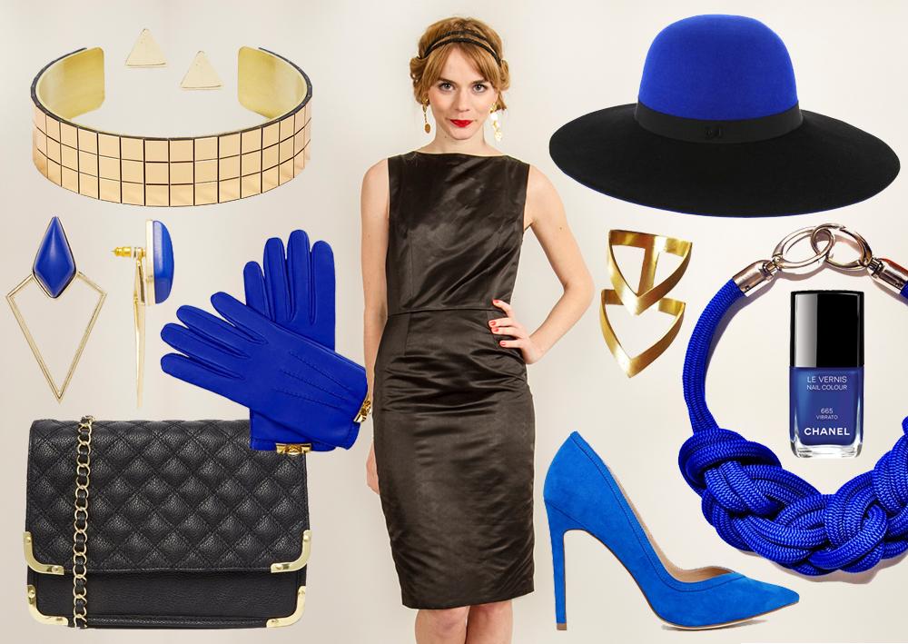 Accessoire de couleur pour robe noire