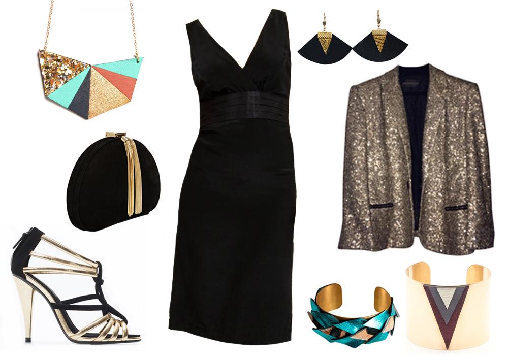 Quels accessoires avec robe noire et blanche
