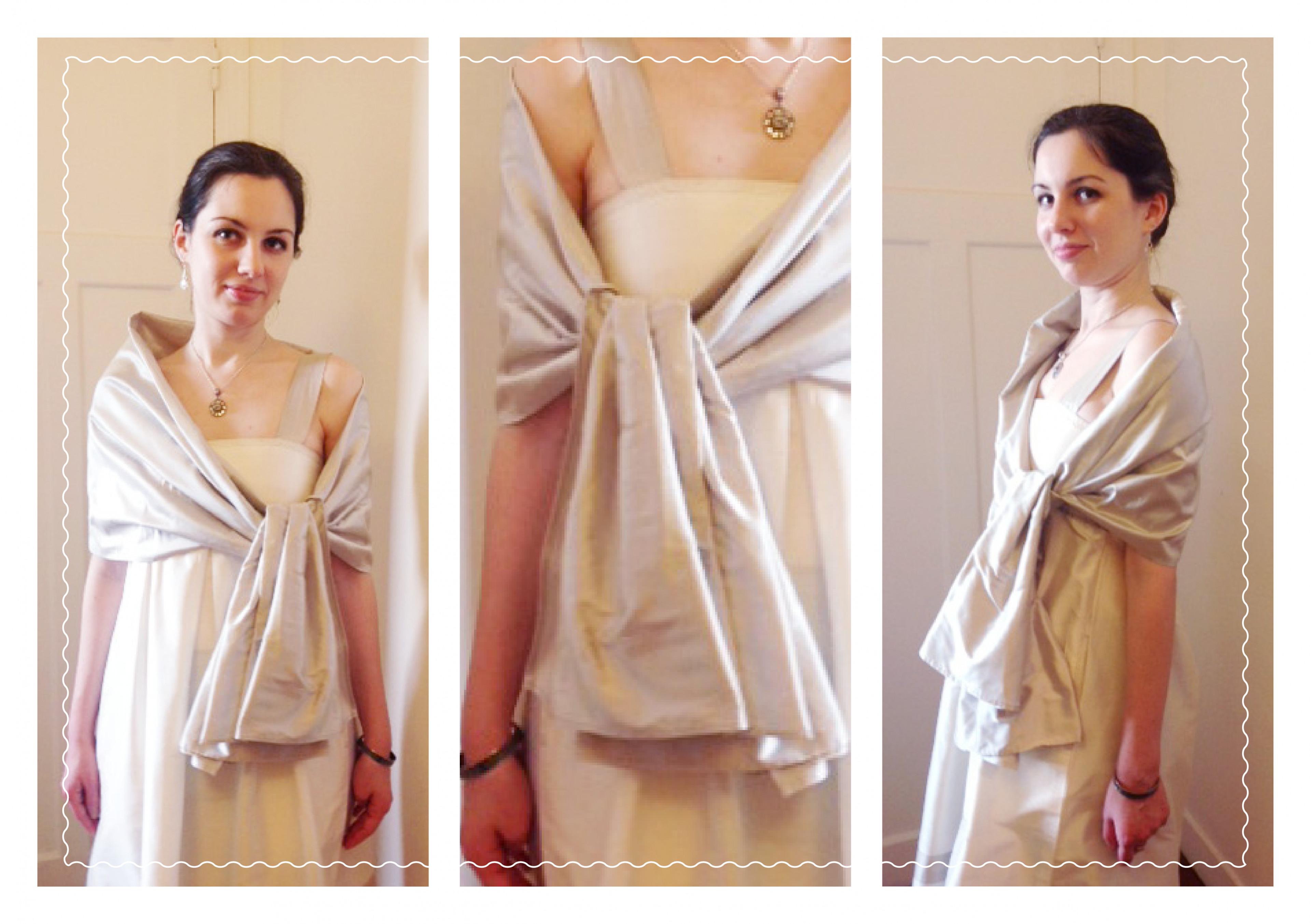 comment porter une etole - Etole Mariage Soie
