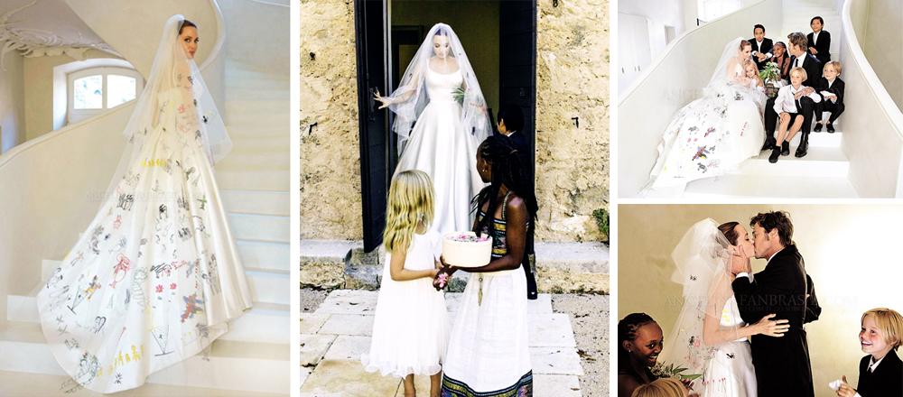 robe mariage d 39 angelina jolie la mode des robes de france. Black Bedroom Furniture Sets. Home Design Ideas
