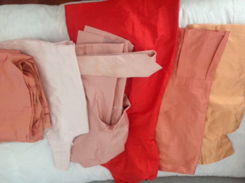 lot de vêtements pour coupons -orange/saumon-