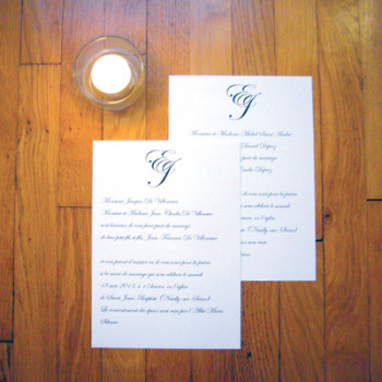 tradition et monogramme A5 non plié//170gr