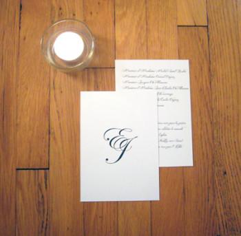 tradition et monogramme A6 papier texturé//250gr/300gr