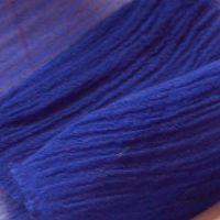 2 yards mousseline bleu indigo
