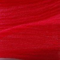 1 yard mousseline lisse rouge