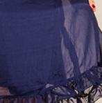 mousseline de soie 07 bleu nuit