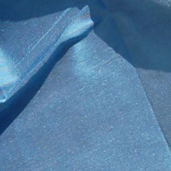 00291 Etole en soie sauvage bleu gris disponible immédiatement