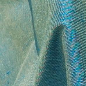 soie sauvage 7600 bleu reflets verts