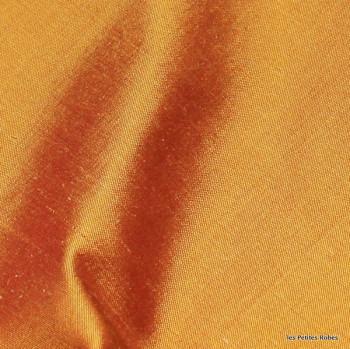 soie sauvage 041 orange cuivré