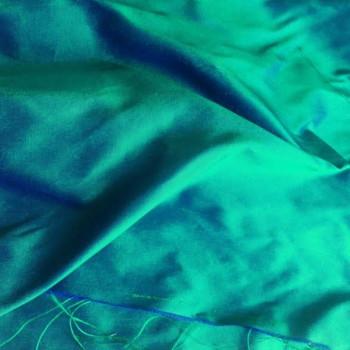 soie sauvage 8201 vert paon